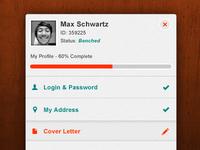 Web App Dashboard Profile