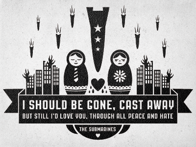 The Submarines Tee Shirt design vector illustration band city tee texture