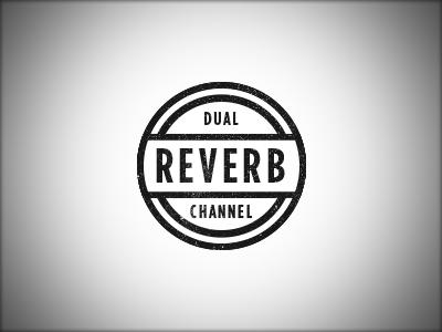 Dual Channel Reverb design music amplifier vintage reverb badge emblem