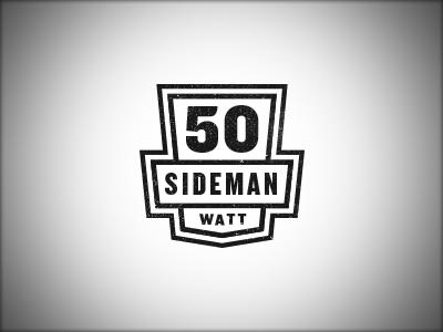 50 Watt Sideman logo music badge brand vintage retro
