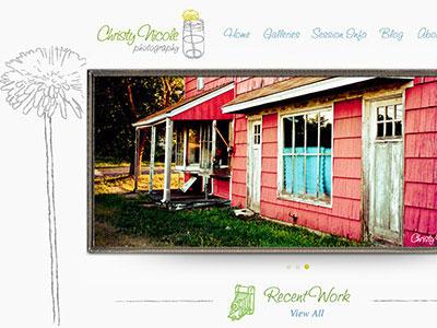 Christy Nicole Photography Branding wordpress identity illustration photo manipulation