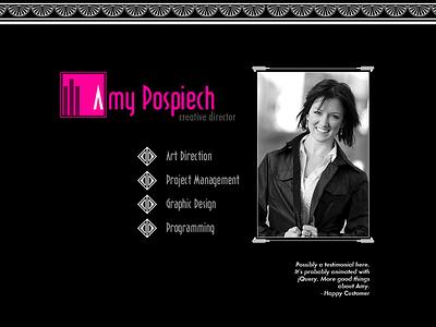 Art Deco Homepage Design Concept 1910s 1920s art deco homepage personal brand resume portfolio