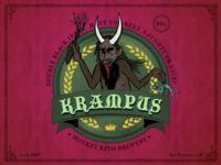 Beer Label: The Krampus (double black IPA)