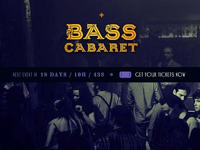 Bass Cabaret Logo & Website Header 1920s serif ornate identity logo burlesque cabaret art deco