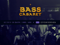 Bass Cabaret Logo & Website Header