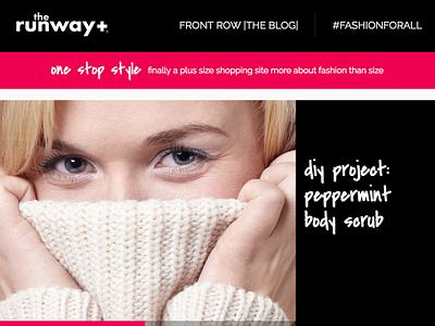 therunway+ Blog web design responsive typography branding