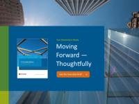 Corporate Landing Page Header