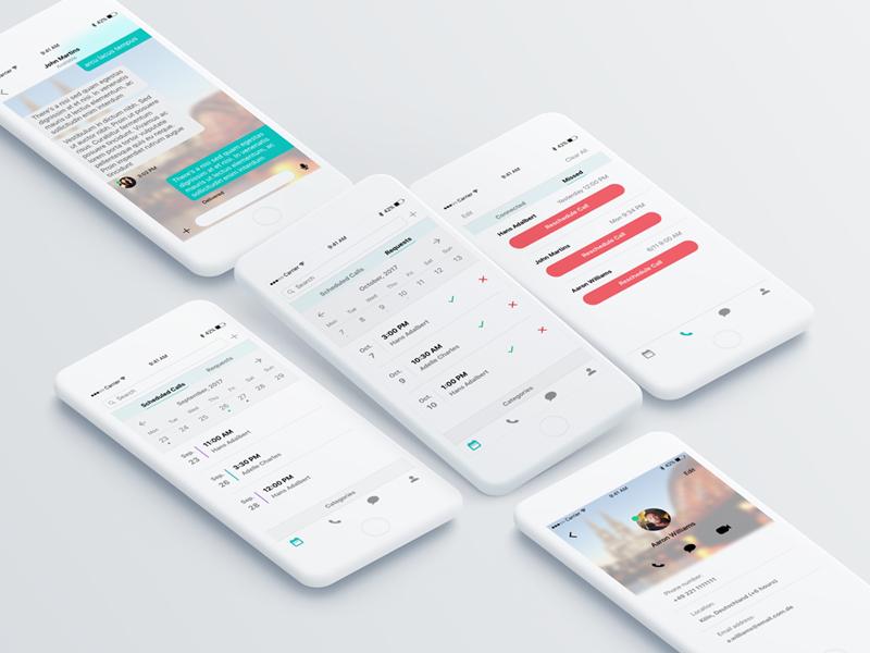Schedule Calls app by Mahmoud Omar on Dribbble