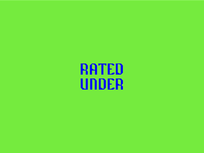 underrated typography neon bright