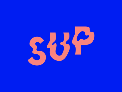 Sup type letters wavy