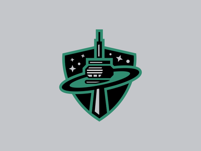 Toronto Planets / Day 7 / August Rebranding Project shield stars sportsbranding cn tower logo hockey roller hockey planets toronto