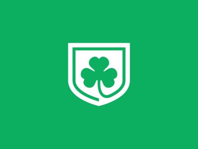 Montreal Shamrocks / Day 10 / August Rebranding Project branding sports sports branding green irish clover shield hockey montreal shamrocks