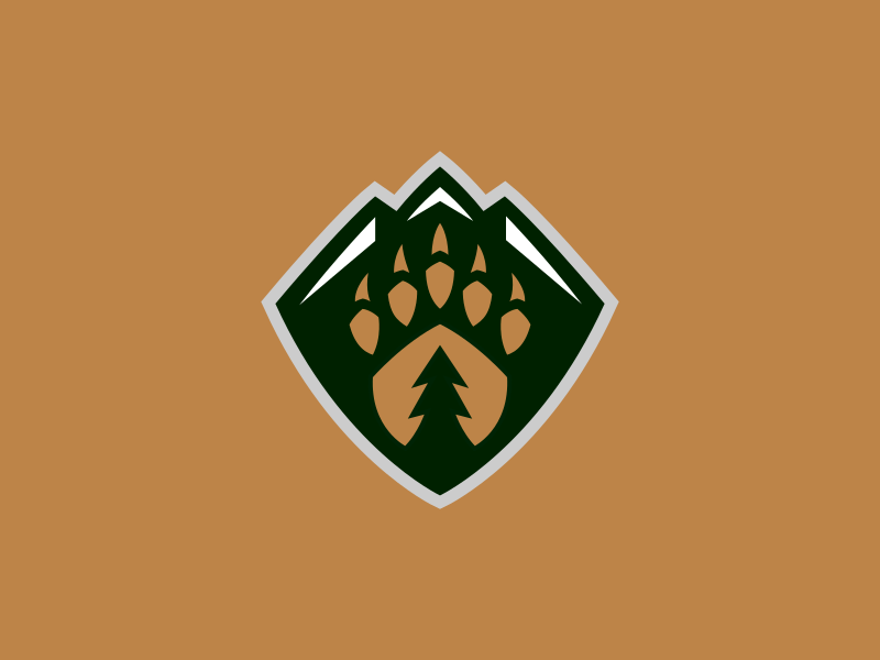 Everett Silvertips / Day 17 / August Rebranding Project sports logo nature tree mountains bear hockey sports logo sports branding