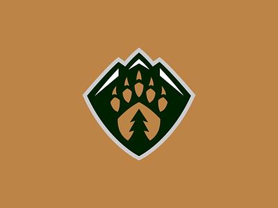 Everett Silvertips / Day 17 / August Rebranding Project sports logo nature tree mountains bear hockey sports logo sports branding