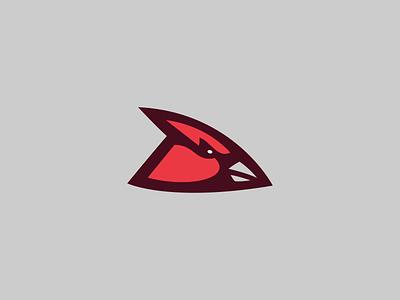 Lamar University Cardinals / Day 18 / August Rebranding Project bird logo logo bird red sports branding sports logo sports ncaa cardinals