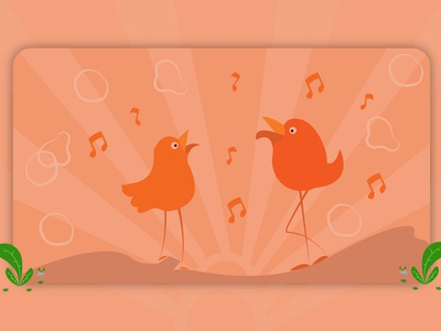 web banner theme -Singing bird - for fatmonk studio