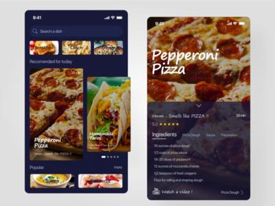 Food Application minimal simple food app xd design design