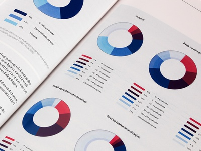 Pie Charts for Report pie charts volufsen ministry infographic graphic design