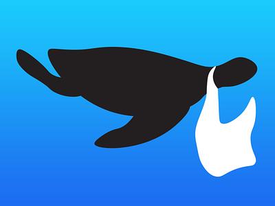 Plastic Current app icon icon plastic bag turtle current logo ocean plastic illustration globalwarming design