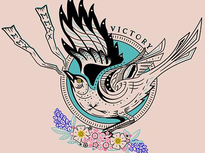 TATTOO mockingbird tattoo art avett flowers bird victory design illustration tattoo