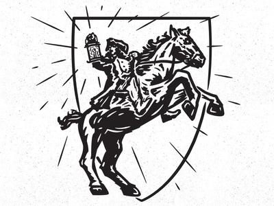 Paul Revere history design illustration boston massachusetts paul revere