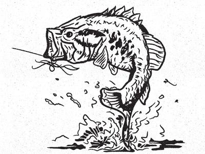 Bass vector design illustration fishing largemouth bass fish