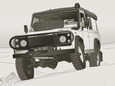 Land Rover diagram design technical illustration offroad vehicle rover land truck