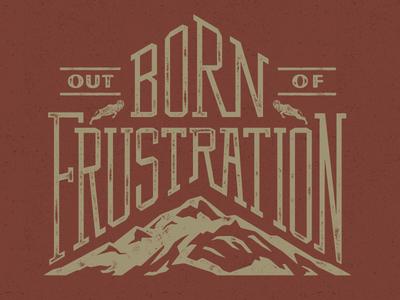Born Out Of custom type word art mountain ram illustration design
