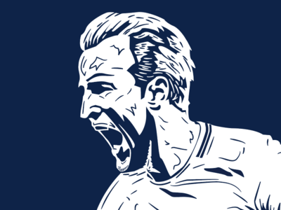 Harry Kane portrait sports design illustration football soccer kane harry spurs