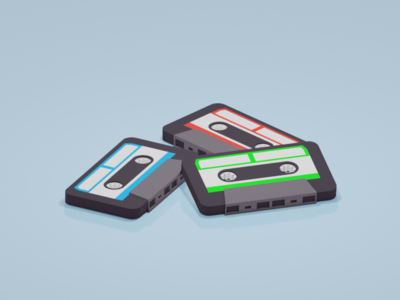 Cassette Tape design low-poly illustration 3d artist 3d 3d art