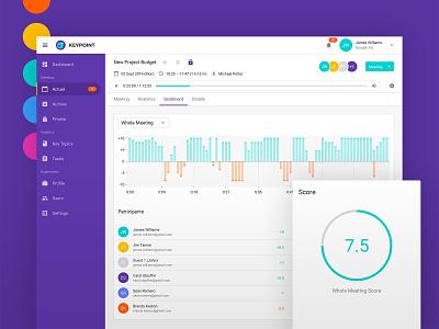 Web app design — Keypoint design ui ui design uidesign uiux user interface ux ux design graphic design startup vector bright interface abstract app web modern minimal simple clean
