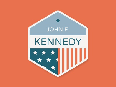 JFK Badge jfk kennedy badge stars stripes america
