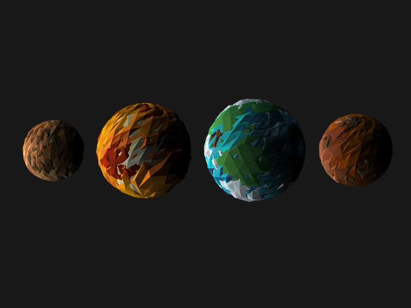 Mercury, Venus, Earth, & Mars! by Hannah Peckham - Dribbble