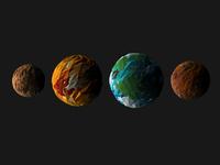 Mercury, Venus, Earth, & Mars!
