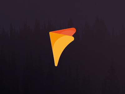 f Logo design flatdesign color flat logodesign logo f