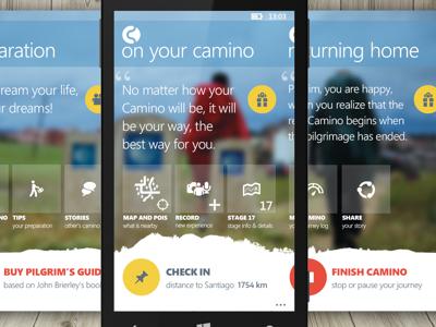 WP8 app for Camino de Santiago