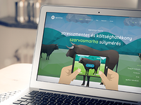 A landing page for an agriculture startup