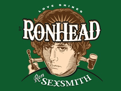 T Shirt Design For Singer-Songwriter Ron Sexsmith vector illustration design