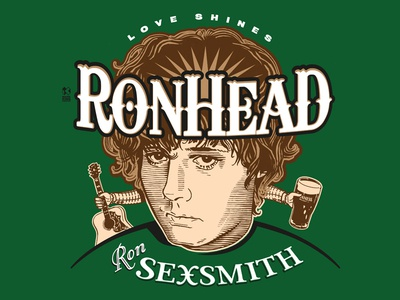 T Shirt Design For Singer-Songwriter Ron Sexsmith vector illustration design