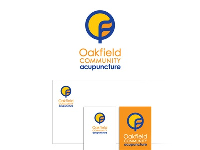 Logo and Stationary Design for Oakfield Community Acupuncture vector design