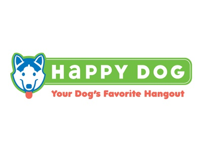 Logo Design For Happy Dog vector