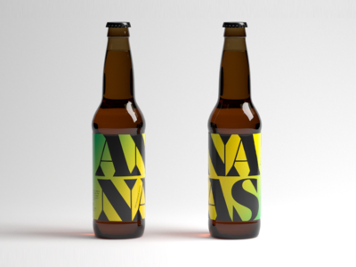 Pineapple Beer type font graphic print french ananas pineapple colors beer beer art brand indentity packaging branding