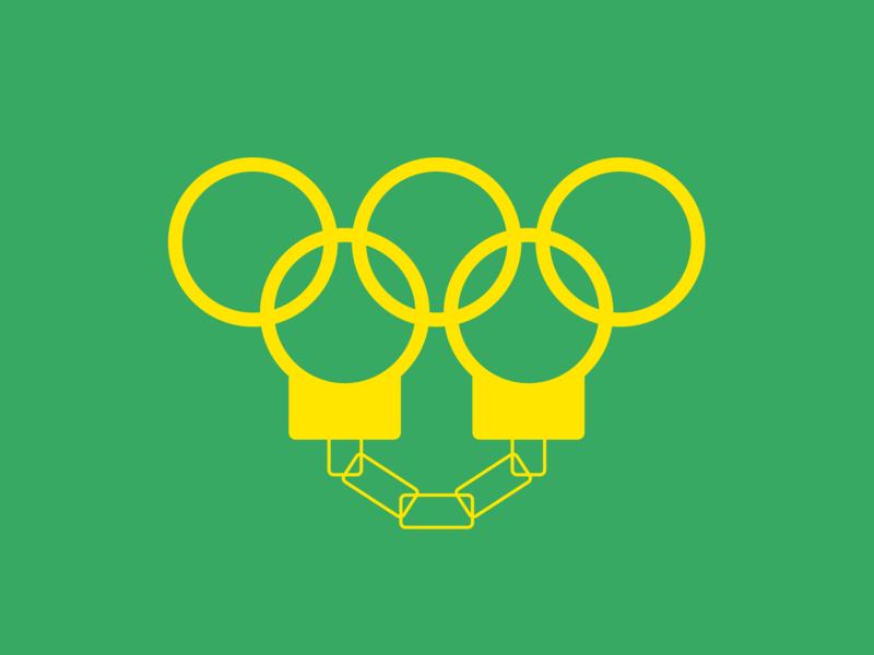 Rio Corruption brand indentity branding design logo design yellow green sport olympic games vector design minimal illustration graphicdesign colors logo graphic branding