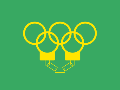 Rio Corruption brand indentity branding design logo design yellow green sport olympic games vector design minimal illustration graphicdesign colors logo graphic branding