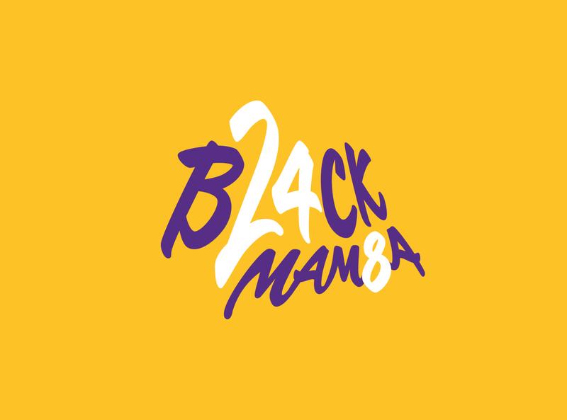 KOBE  - BLACK MAMBA type nba black mamba typogaphy legend basketball graphic design illustrator los angeles lakers kobe bryant