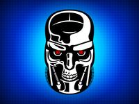 Terminator T800 head