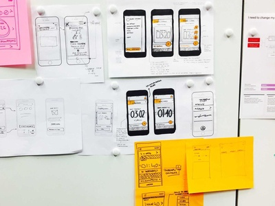 McLaren healthcare neuromodulation project low fidelity handrawn wireframes ux ui sketch prototype mobile mclaren interface interactive design industrial design health care health app health drawing digital design