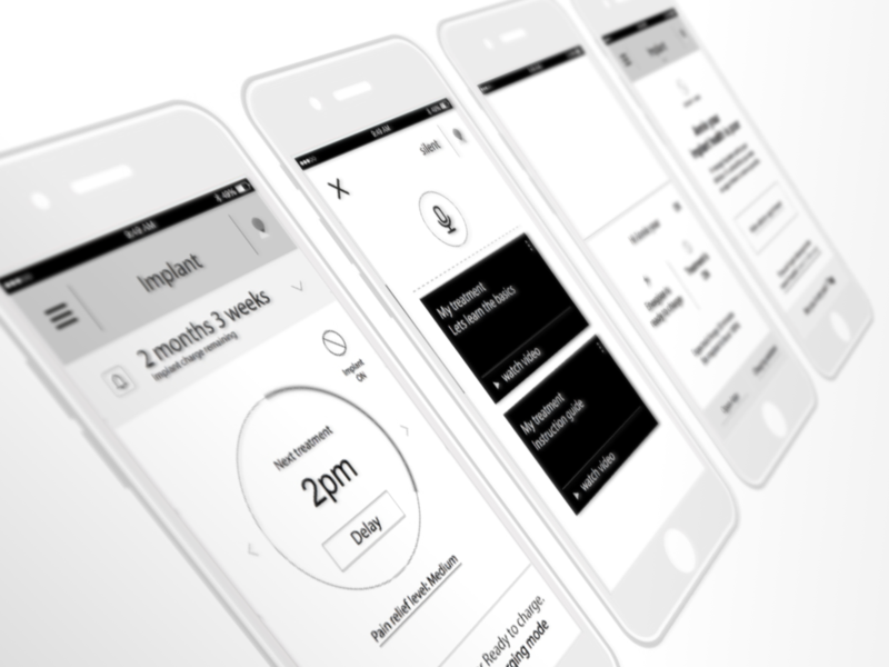 McLaren healthcare neuromodulation project wireframes ux ui mobile mclaren interface interactive design health care health app health digital design