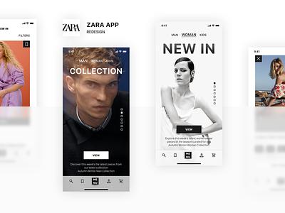 ZARA App Redesign zara zaful shop shein romwe pacsun mango fashion nova fashion
