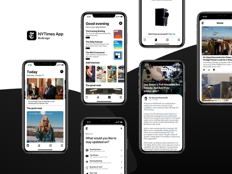 The New York Times App Redesign Concept ux ui design app world news breaking news nytimes new york times news concept news app nytimes app news thenewyorktimes